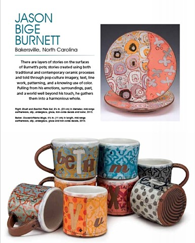 Emerging Artist: Jason Bige Burnett Ceramics Monthly  May 2013