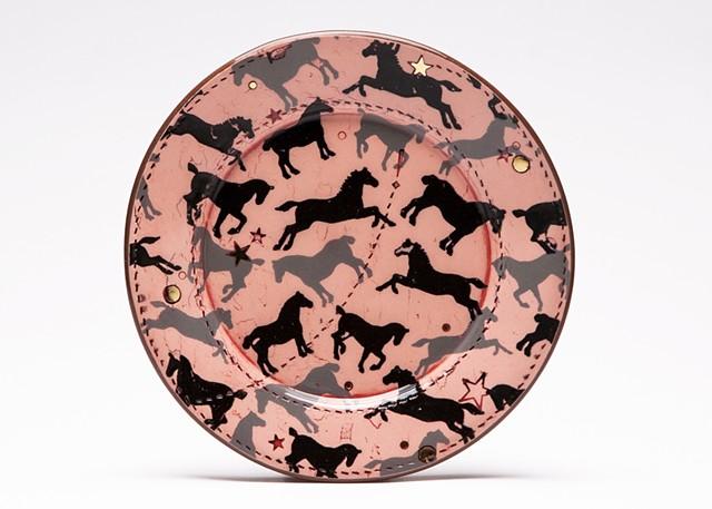 Horse Dessert Plate