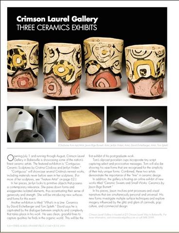 """""""Crimson Laurel Gallery: Three Ceramic Exhibits"""" The Laurel of Asheville"""