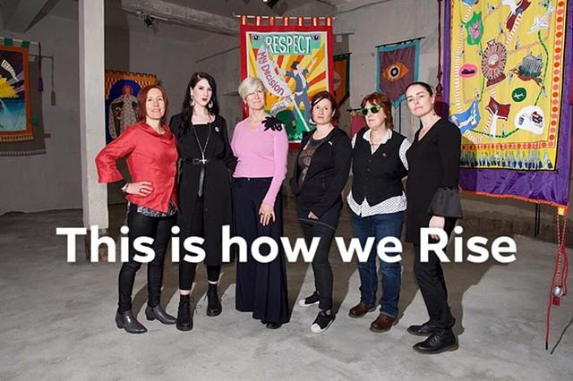 Áine Phillips, Sarah Cullen, Alice Maher, Rachel Fallon, Alison Laredo, Breda Mayock at the 38th EVA International Biennale, Limerick 2018