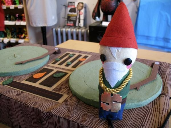 Two Turn Tables And A Micro-Gnome