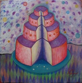 large layer cake painting divine feminine chris miroyan