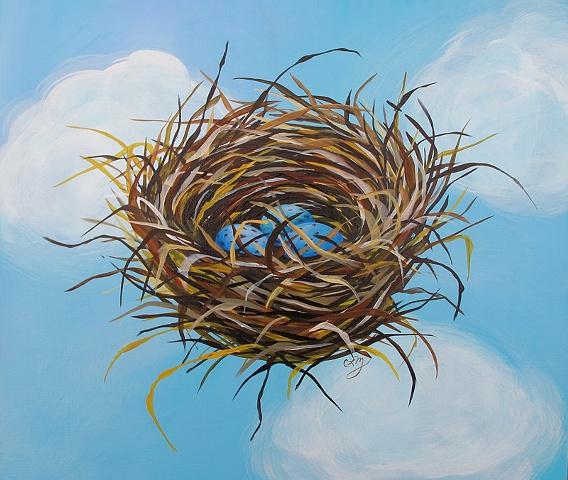 eggs, nest