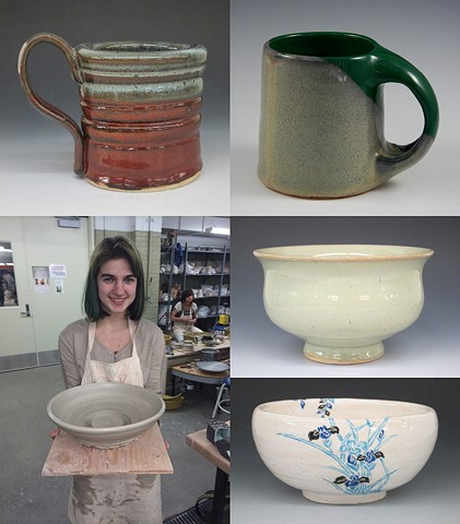 KCSF 220-Ceramics 1 Projects 3 and 4: Cups and Bowls / Wheel Throwing