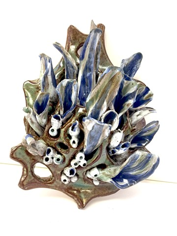 Ceramic, wall sculpture, Katrina J. Murray