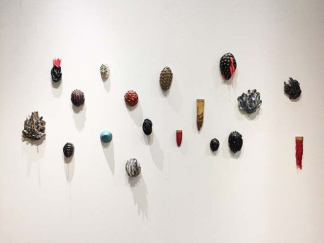 Artist Katrina j Murray, Ceramic, wall sculpture, Indianapolis, Indiana Sculptor