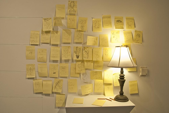 Scribble Installation (Detail Lamp/Doodles)