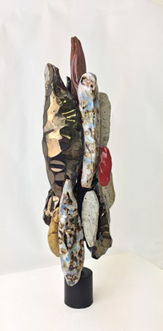 Ceramic, steel, sculpture, Katrina J. Murray, The Shape of Color