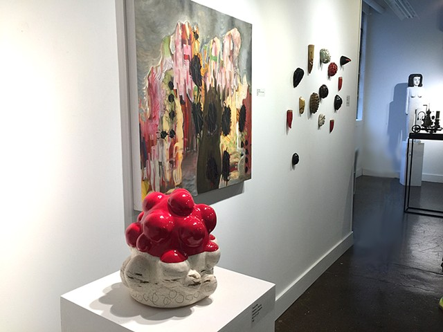 Installation view at 10th West gallery