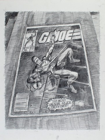 Wrapped in Plastic (GI Joe #21) Graphite on Paper 24 x 18 2017