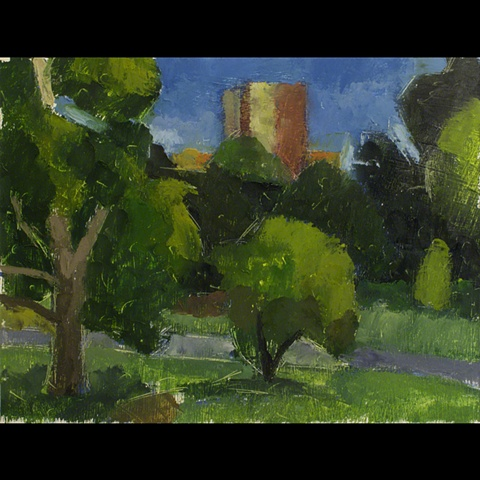 Christopher Dolan, Chris Dolan, Landscape, Oil on Paper, Painting