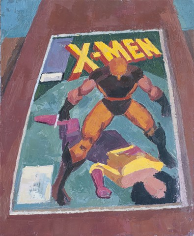 Wrapped in Plastic (X-Men #177) Oil on Canvas 20 x 16 2017