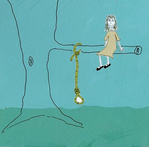 Shauna Oddleifson, Noose, collage