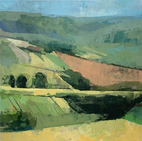 Summer Fields. 30x30. Oil on Panel.