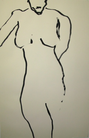 standing woman nude