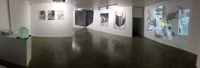 Tagging Home, Solo Exhibit Gallery View Dastan Basement Gallery, Tehran, Iran. (panoramic exhibit view)
