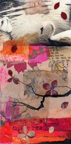 Angela Petsis; Encaustic mixed media; encaustic collage; encaustic; encaustic painting; collage; mixed media painting; mixed media artist; nature art; encaustic art