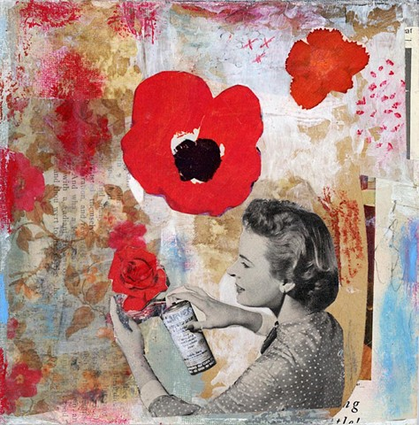 Angela Petsis; collage; Paper collage; Angela Petsis art, vintage paper collage; original collage; mixed media; mixed media art; original art; collage; magazine collage; cut and paste; collage on canvas; hand made paper; collage art; handmade paper collag