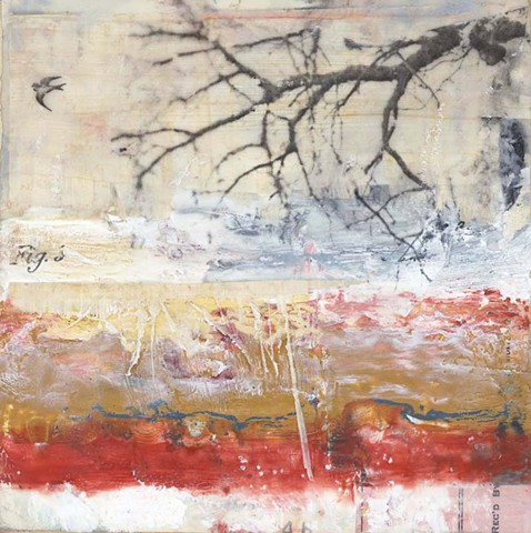 Angela Petsis; Encaustic painting; encaustic art; encaustic mixed media; Art; mixed media; nature art; mixed media art; collage