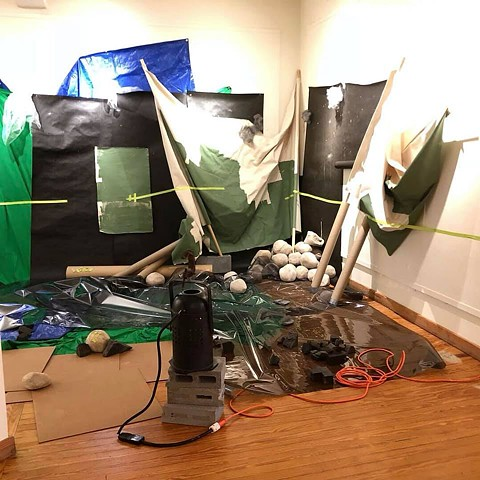 Installation: aftermath, second performance (Night)