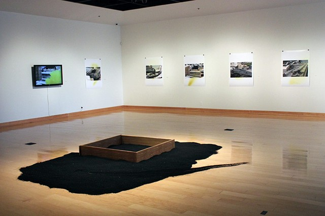 Installation view, Blow-Up (background)