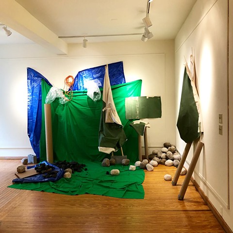 Installation: aftermath, first performance (Daylight)