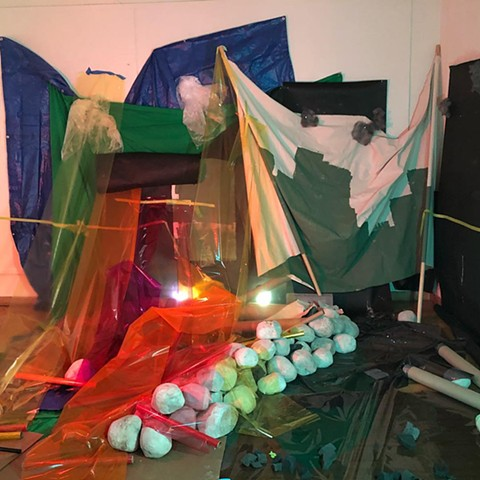 Installation: aftermath. third performance (Sunrise)