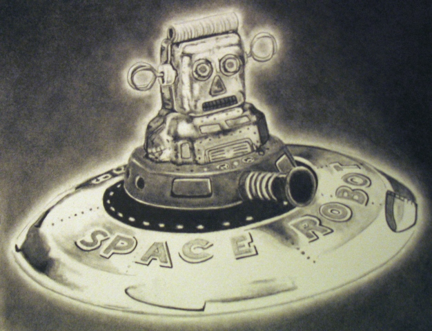 Space Robots do Love the Desert (detail)