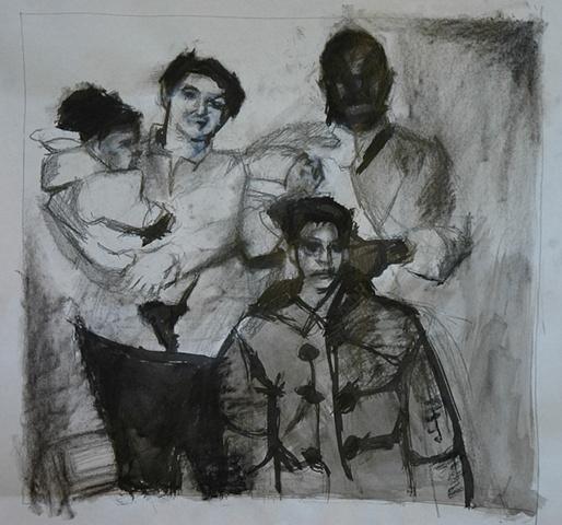 Hospital Polaroids, Drawing