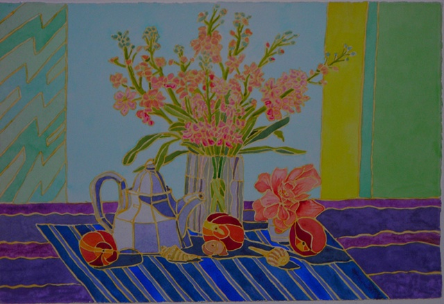 Flowers with Teapot