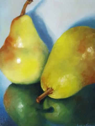 Two Pear Portrait