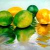 Lemons & Limes on Foil