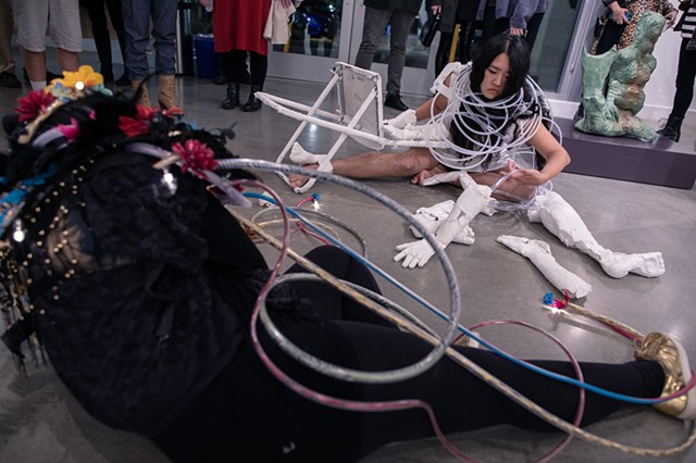 Cyborg Divinations Performance Still 15