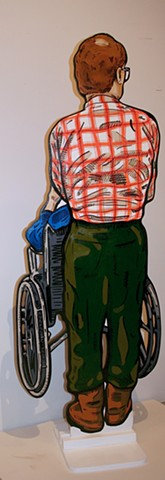 Wheelchair Adam Matak Plaid