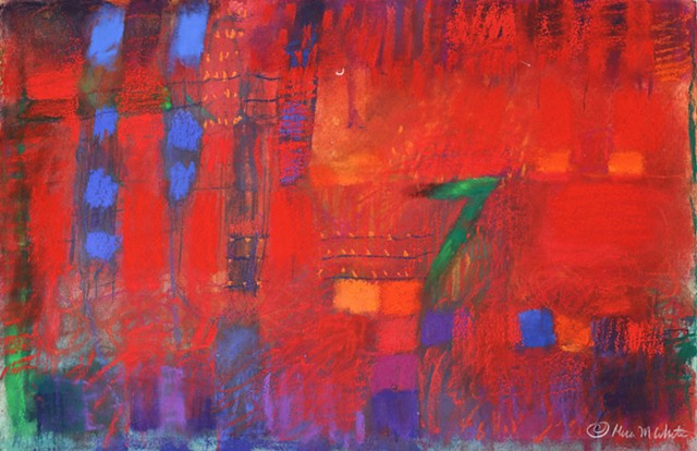 Vibrant Abstract with Soft Pastels. Rich texture