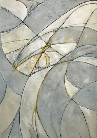 Upward gouache, charcoal, conte crayon, pastel on paper Works on paper Richard Garrison