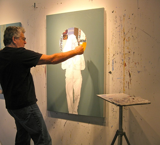 "Working on the painting ""Halo"" - 2010"