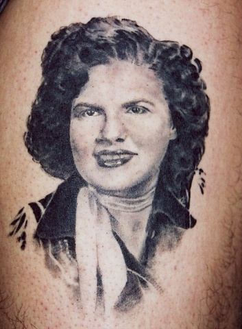Patsy Cline tattoo by Danny Gordey