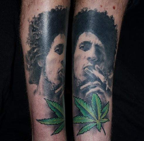 portrait tattoo by Danny Gordey Ink Machine Edmonton Canada  Bob Marley 2011