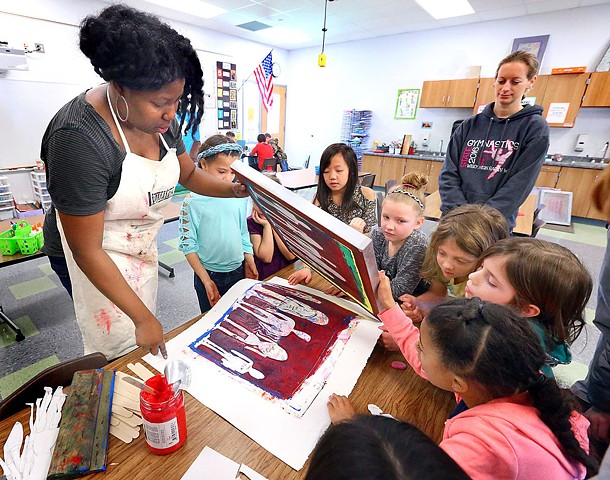 Detroit artist shares healing power of art with La Crosse students