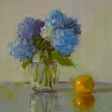 Hydrangeas with Lemon