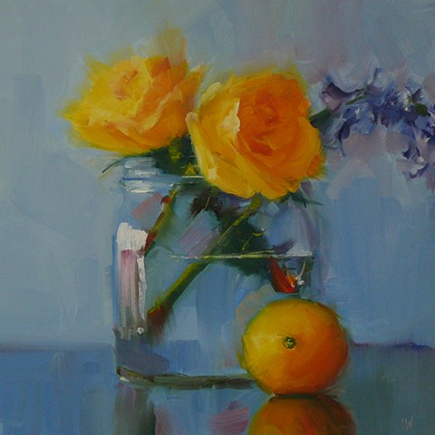 Yellow Roses with Lemon