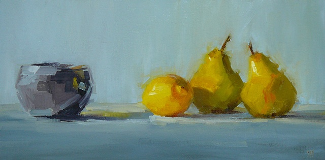 Pears with Indian Pot
