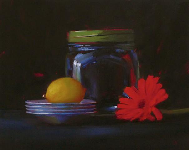 Big Jar with Daisy and Lemon