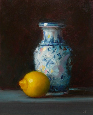 Vase with Lemon