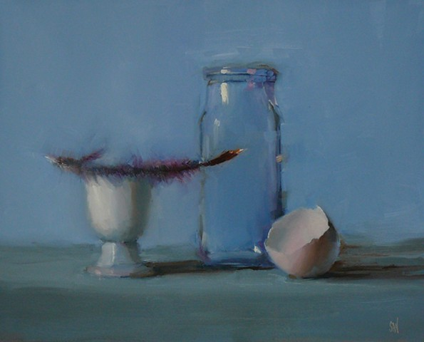 Eggcup with Feather