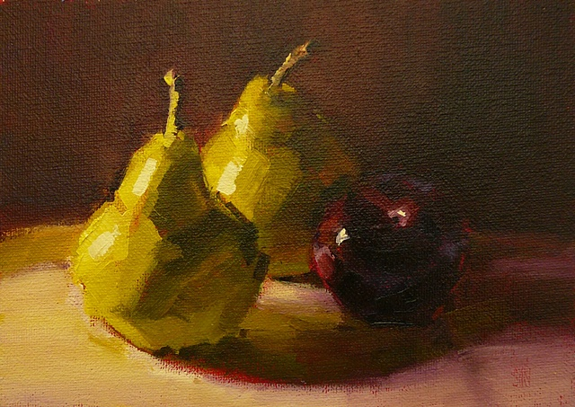 Pears with Plum