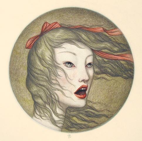 Voyage Inside #7 Original Drawinf Framed