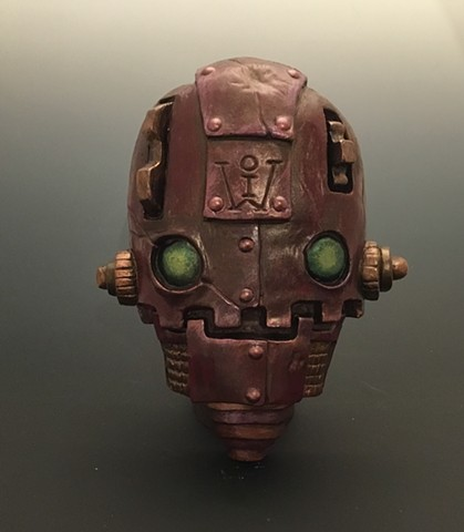 "Impossible Winterbourne  ""SkullBots"" Red with Green Eyes"