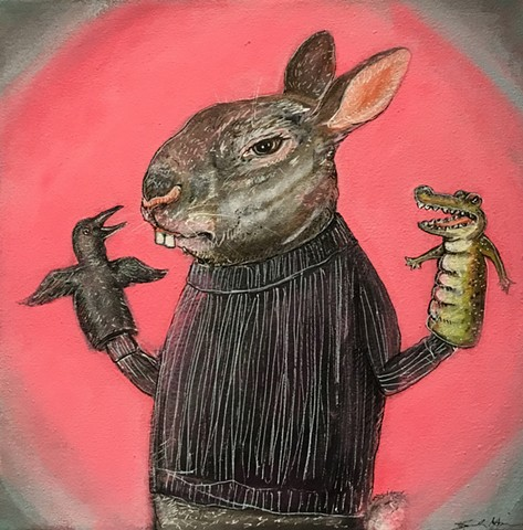 "SOLD Sarah Higdon ""Mr Phister"""